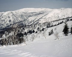 Mt.Ohgi-numa (threepinner) Tags: snow ski japan spring hokkaido skiing negative   biei fujica hokkaidou  selfdeveloped iso160 northernjapan  mountainsnaps gf670  mtoputateshike  taisetsunationalpark mtohginuma