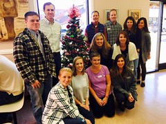 Nicole's group served lunch at The Corner Table around Christmas