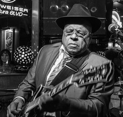 Blues Legend Roy Gaines (MarcCooper_1950) Tags: musician music hat bar lumix glasses guitar livemusic blues performer guitarist roygaines marccooper socalblues mauisugarmillsaloon fz1000 cadillaczackshow