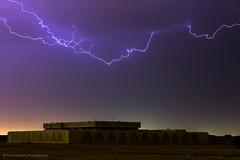 Lightning (Ziad Hunesh) Tags: storm night clouds canon dark 50mm desert lightning thunder qatar 650d zhunesh