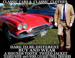 Classic cars ver 3 Tweed - Twill clothes  part  6 (Make Oxygen... Kill Co2...Plant More Trees) Tags: auto newzealand christchurch cars car canon vintage clothing classiccar nelson auckland nz wellington vehicle dunedin kiwi napier cavalry tweed houndstooth kiwiana twill tweedjacket tweedcoat cavalrytwilltrousers cavalrytwill
