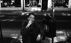 Cigarett triumf (Martin Gleerup) Tags: street portrait bw woman streets sweden trix documentary smoking 1600 million malm leicam6 documentry rd martingleerup