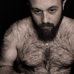 I don't need to be free (zeon7) Tags: bear portrait hairy man male self beard sadness chest lies silence zeon7