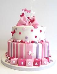 PinkButters (ommnom) Tags: pink stars butterflies christening girlie bows babyblocks namingday christeningcake