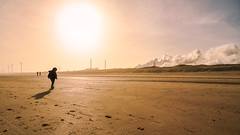 Impact (Michael Angelo 77) Tags: beach sunshine sunrise seaside air silhouettes wijkaanzee anthropocene deamy