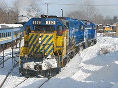 Shoving to the House (GLC 392) Tags: railroad mi train bay great central lakes railway arbor ann pm aa 1225 392 385 saginaw emd gp382 tuscola gatx owosso 2663 tsby gp35 gmtx