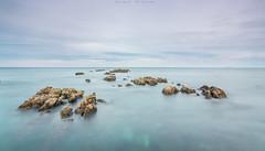 Normalidad (sergio estevez) Tags: color luz azul marina landscape atardecer mar agua paisaje cielo calma rocas algeciras granangular largaexposicin estrechodegibraltar campodegibraltar tokina1116mmf28 sergioestevez