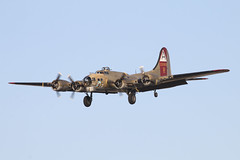 Nine-O-Nine (brontis5) Tags: california ca airplane freedom flying wings fort aircraft flight foundation landing b17 boeing preserved arrival approach bomber retired fortress federal warbird approaching airfield arriving 2016 collings nuq b17g nineonine