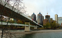 Northwest LRT Bridge at Kensington, Calgary April 2016 (jmichael100) Tags: bridge calgary water river bowriver calgaryalberta calgarylrt
