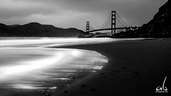 Baker's Beach || Golden Gate Bridge, San Francisco (anoopbrar) Tags: ocean sanfrancisco california city longexposure bridge bw usa art beach nature water monochrome america reflections landscape san francisco long exposure unitedstates artistic outdoor cities sanjose goldengatebridge goldengate sanfran landscapephotography cali49a