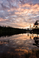 Colourful Midnight Waters (Kristin Repsher) Tags: summer lake reflections finland nikon lapland d750 midnightsun luosto finnishlapland northernfinland lakeahvenlampi