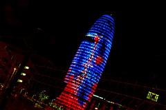 Torre Agbar (vide23) Tags: barcelona city torreagbar barcelonanight