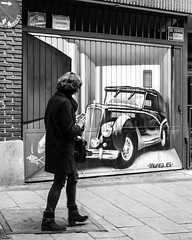 Encounter (martina.stang) Tags: art car candid streetphotography stranger oldtimer wallpainting muralart beautifulpainting mureaes saveencounter