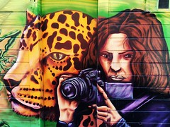 leopard + videographer (throgers) Tags: sanfrancisco california mural photographer leopard guesswheresf unfoundinsf videographer gwsf