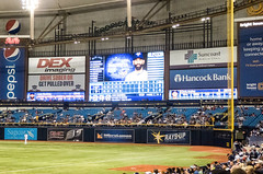 Tropicana Field Scoreboard (BlueVoter - thanks for 1.3M views) Tags: stpetersburg baseball tampabay tropicana beisbol