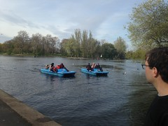 Regents Park on day one (abbyef) Tags: lake london paddleboat regentspark