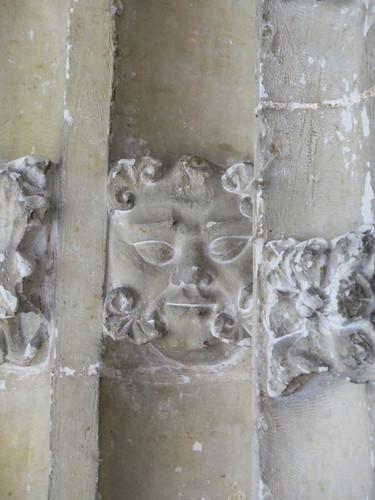 Green Man carving, south doorway