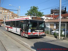 "2015 0615 28 TORONTO NEW FLYER D40LF 1998-1999 BUS 7346 296 OBH AT BROADVIEW SUBWAY STATION (Andrew Reynolds transport view) Tags: new urban toronto ontario canada bus station rural subway coach flyer diesel transport passenger 28 streetcar omnibus broadview 296 19981999 2015 0615 obh d40lf 7346 transit"" america"" at ""north ""mass"