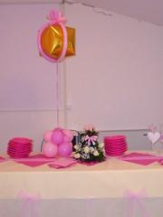BATTESIMO MATILDE (Hotel Plazza) Tags: rose rosa fiori regalo battesimo matilde pacco palloncini decorazioni palloncino fiocchi piattini centrotavola decoro fiocchetti