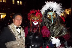 Dr. Takeshi Yamada and Seara (Coney Island Sea Rabbit) at the Village Halloween Parade in Manhattan, NY on October 31, 2011. A couple in the traditional spectacular Venetian Carnival costumes. 20111031 003 c2-----big (searabbits23) Tags: ny newyork sexy celebrity art hat fashion animal brooklyn painting asian coneyisland japanese star costume tv google king artist dragon god manhattan wildlife famous gothic goth performance pop taxidermy cnn tuxedo bikini portraiture tophat unitednations playboy entertainer takeshi samurai genius donaldtrump mermaid amc johnnydepp mardigras salvadordali unicorn billclinton billgates aol vangogh curiosities sideshow jeffkoons globalwarming takashimurakami pablopicasso steampunk yamada damienhirst cryptozoology freakshow barackobama villagehalloweenparade seara immortalized takeshiyamada museumofworldwonders roguetaxidermy searabbit ladygaga climategate minnesotaassociationofroguetaxidermists