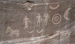 Petroglyphs / Pleasant Creek Canyon (Ron Wolf) Tags: archaeology circle utah nationalpark panel crescent nativeamerican petroglyph anthropology rockart bowandarrow concentriccircles capitolreefnationalpark zoomorph anthropomorph pleasantcreek anthromorph