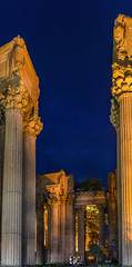 super bowl 50 at the palace (pbo31) Tags: sanfrancisco california winter panorama orange game color sport night dark nikon january large panoramic superbowl 50 palaceoffinearts marinadistrict stitched 2016 boury pbo31 d810 sb50