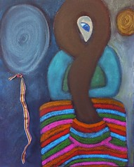 Kundalini Rising, 2014 (Mystical Spirit Studio) Tags: art painting mixedmedia ribbon kundalini drypigment