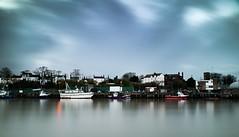 Fishing Boats at Gorleston (Number Johnny 5) Tags: sky reflection clouds river boats nikon long exposure outdoor great norfolk filter d750 yarmouth tamron gorleston advantix yare tiffen 2470mm ircut
