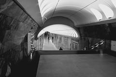 Morning. Moscow. (rededia) Tags: street city morning urban black monochrome blackwhite metro moscow