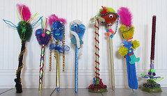 A is for Art-ful toilet tools (Monceau) Tags: colorful folkart unique toilet brush tools mardigras quirky plunger throws kreweoftucks