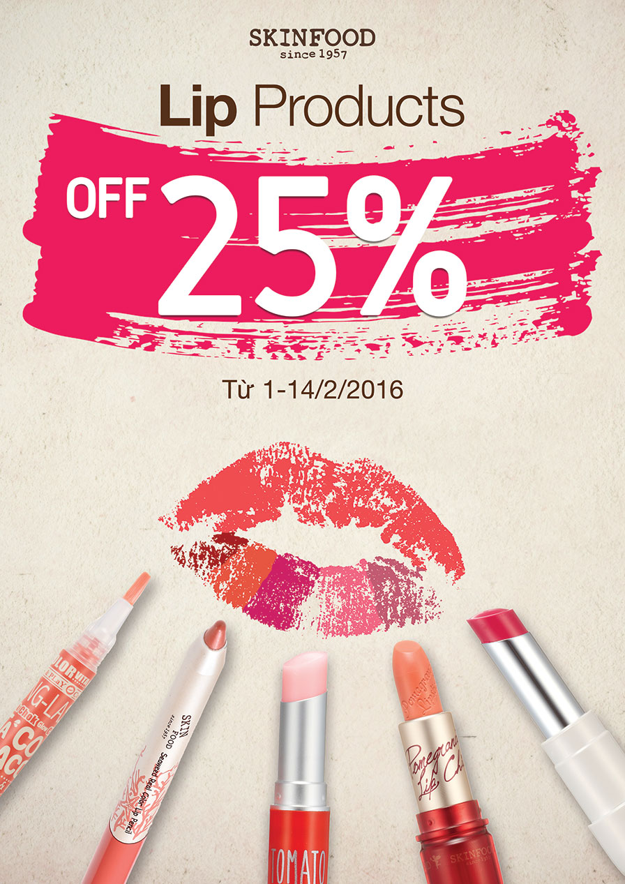 SALE OF 25% LIP PRODUCTS