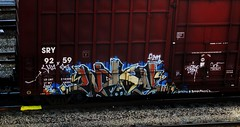 wyse '04 (timetomakethepasta) Tags: chicago train graffiti boxcar sws d30 freight sry wyse a2m