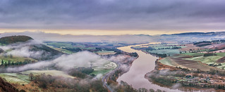 Morning mist from Kinnoull Hill, Perth