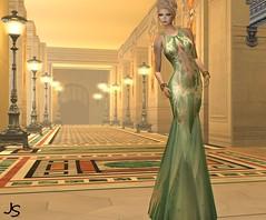 Gilded Full (Jamee Sandalwood - Miss V SWEDEN 2015) Tags: woman sexy female golden model metallic formal sl secondlife virtual blonde gown gilded revamped slfashion zedsensations