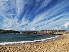 IMG_89631 (riverrock777) Tags: sea cloud costa beach rock landscape coast mar day view sunny playa paisaje shore cielo vista da nube roca orilla soleado