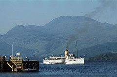 'Maid of the Loch' off Luss Pier. May'80. (David Christie 14) Tags: lochlomond luss maidoftheloch