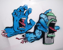 graffiti spray can (Wizards_Stickers) Tags: street art graffiti sticker character paste can spray usps slaps collabs cholowiz nazer26