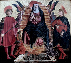 IMG_3612KAndrea del Castagno .1421-1457. Florence. Assumption with Saint Julien and Saint Minias. 1450. Berlin Gemldegalerie. (jean louis mazieres) Tags: italy museum painting italia muse museo italie peintures peintres andreadelcastagno