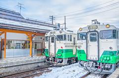 2016.Feb  @Fukushima, Japan (http://becky-photo.com) Tags: winter snow japan train landscape trainstation   fukushima   japanlandscape          aizumiyashitastation