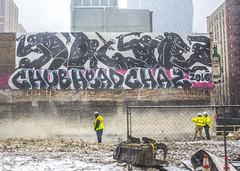 Demo'd Chub Head Chaz (Rodosaw) Tags: street chicago art photography graffiti head culture chub documentation chaz subculture 2016 of