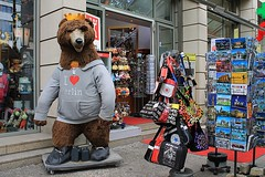 Berlin Bear - Symbol of the City (Esther Spektor - Thanks for 10+ millions views..) Tags: bear street door city building berlin window sign canon germany stand store europe symbol display mascot souvenir card figure handbag estherspektor