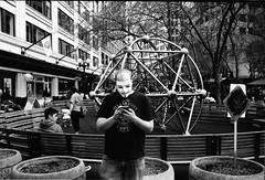 Untitled (Tracy Clayton) Tags: seattle film 35mm guyfawkes streetphotography leicam6 kodaktrix400 filmisnotdead believeinfilm leicasummicron35mmltm streetphotoist