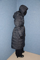 Three Coats (Buses,Trains and Fetish) Tags: winter hot girl three warm coat hijab torture sweat coats niqab slave burka chador