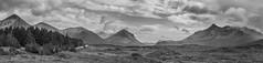 Cuillin Range Skye Cropped B&W (Tidyshow) Tags: panorama mountain skye clouds scotland pano sony highland cuillin 1650 a77ii ilca77m2 a77m2