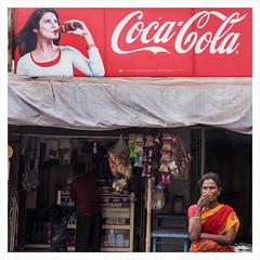 @ Srirangam (Madhusudanan Parthasarathy) Tags: street india shop lady nikon women tea drink ad culture streetphotography lifestyle d750 juxtaposition tamilnadu consumer trichy srirangam petti reatil incredibleindia