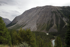 Heading to Sunwapta Pass (AmandaMT) Tags: trip mountain canada water beauty nationalpark jasper skies vibrant pass august alberta banff wilderness mountains road trip sunwapta parkway august rocky sunwaptapass icefields 2015