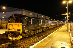 Caledonian Sleeper 73967 at Oban with 1B01 to Edinburgh (60044) Tags: west london scotland highlands edinburgh rail railway class line highland gb oban network euston 73 sleeper whl caledonian polmadie serco railfreight gbrf 73967 1b01 5b01 73966