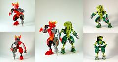 Caution: Wider Loads (0nuku) Tags: female fire lego air jungle bionicle protector villager matoran femoc femmoc