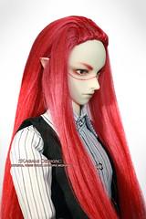 Ruby (Kimirra) Tags: doll wig bjd commission abjd colorfulwig colorfulhair surialpaca bjdwig dollwig alpacawig angorawig kagamidesign