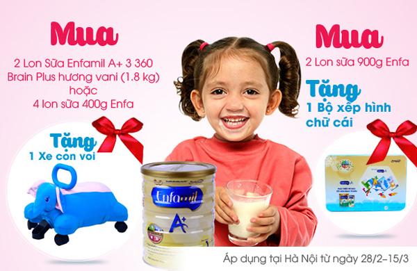 Mua sữa Enfa nhận ngay quà tặng